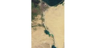 Canalul Suez, vedere de pe orbită. Sursa: NASA