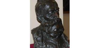 B. P. Hasdeu, bust de Dimitrie Paciurea din Muzeul Teatrului Național din Bucuresti. Sursa: TNB