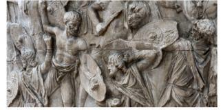 Columna lui Traian, fragment. Sursa foto: IRCCU Veneția