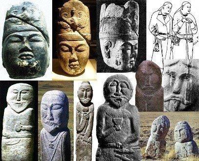 Capete sculptate aparținând pre-turcilor. Sursa foto: indigodergisi.com