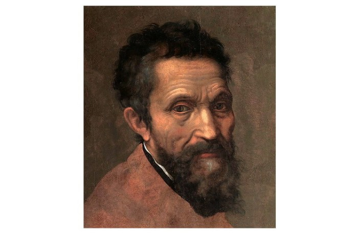 Michelangelo, portret (neterminat, detaliu) de Daniele da Volterra (1509–1566), cca. 1544