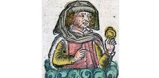 Ovidiu, gravură în lemn din Cronica de la Nürnberg, 1493