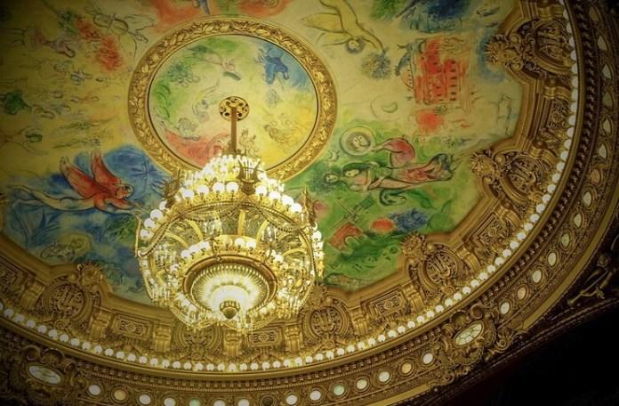 Tavanul sălii Operei din Paris