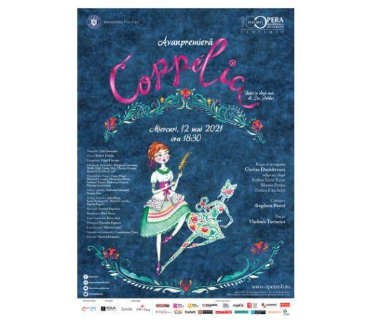 Afis Coppelia - avanpremiera 12 mai ONB