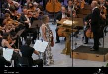 """Hilary Hahn, Paavo Järvi, Orchestra Filarmonicii """"George Enescu"""" din București, 28 august 2021, Sala Palatrului. Foto © Andrada Pavel, Festivalul """"Enescu"""""""