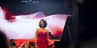 """Khatia Buniatishvili și Orchestra Filarmonicii din Israel, Festivalul """"Enescu"""", 16 septembrie 2017. Foto: Andrei Gîndac"""