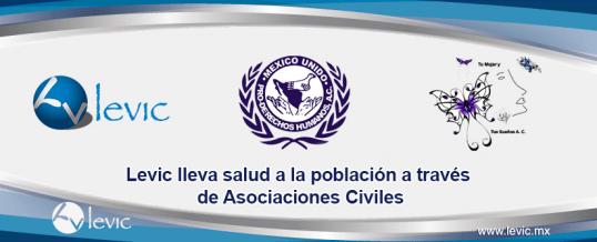 Levic lleva salud a la población a través de Asociaciones Civiles