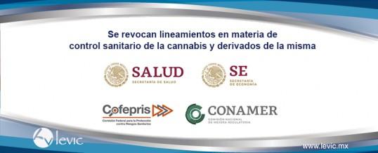 Se revocan lineamientos en materia de control sanitario de la cannabis y derivados de la misma