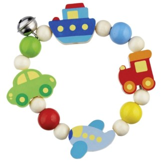 Vehicles Touch Ring - Wooden Baby Toy by Heimess   LeVida Baby