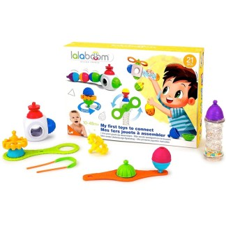 Lalaboom My First Toys To Connect (21 Pieces) - LeVidaBaby