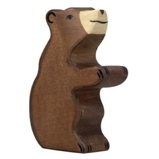 Brown Bear, small sitting - Holztiger 80186