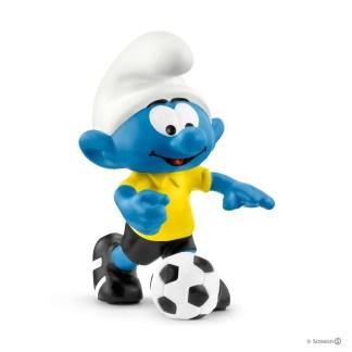 Schleich Football Smurf with Ball The Smurfs figure - 20806 | LeVida Toys