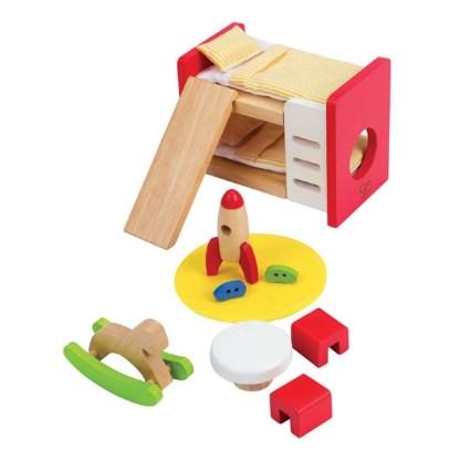 Hape Children's Room (E3456) Dolls House Set | LeVida Toys