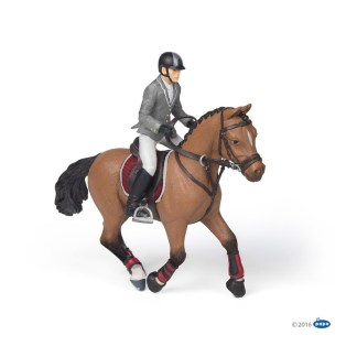 Papo Competition Horse with Rider - 51561 | LeVida Toys