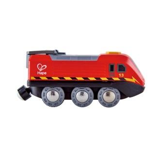 Hape Crank-Powered Train (E3761) for wooden railway | LeVida Toys