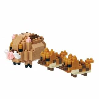 Nanoblock Mini Collection: Boars (Pigs) (NBC-285) | LeVida Toys