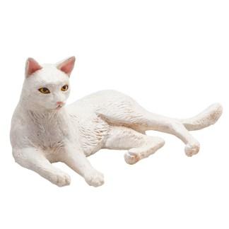 Cat Lying White (Animal Planet 387368) | LeVida Toys
