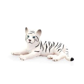 White Tiger Cub Laying Down (Animal Planet 387015) | LeVida Toys