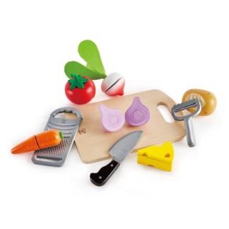Hape Cooking Essentials Play Food Set (Hape E3154) | LeVida Toys