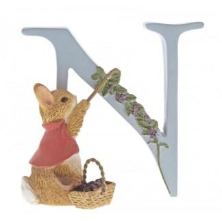 """N"" Cotton-tail - Peter Rabbit Letter | LeVida Toys"