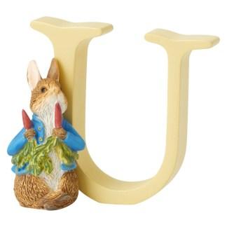 """U"" Reter Rabbit with Radishes - Peter Rabbit Letter | LeVida Toys"