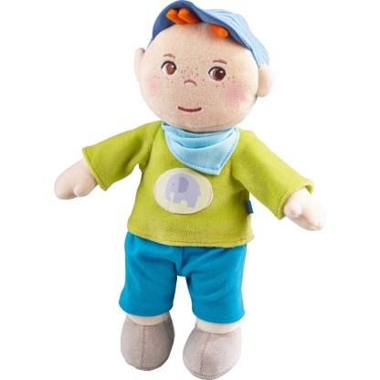 Fabric Jonas Snug-Up Doll by Haba (302106) | LeVida Toys