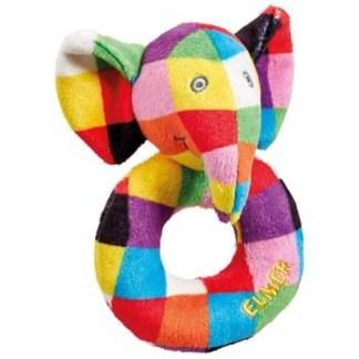 Elmer Ring Rattle - Rainbow Designs EL1447 | LeVida Toys