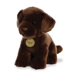 MiYoni Chocolate Labrador 11 Inch soft toy by Aurora | LeVida Toys