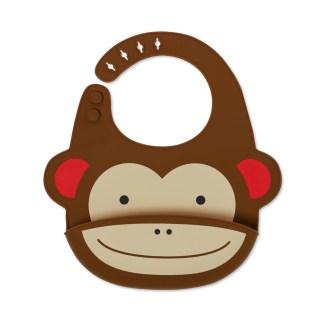 Skip Hop - Zoo Fold & Go Silicone Bib: Marshall Monkey | LeVida Toys