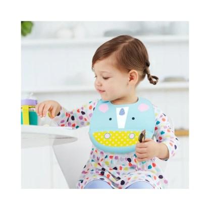 Zoo Fold & Go Silicone Bib: Eureka Unicorn   LeVida Toys