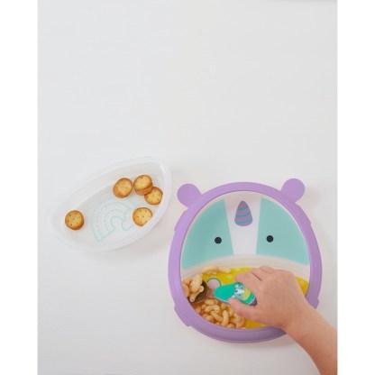 Skip Hop - Zoo Smart Serve Plate & Bowl: Eureka Unicorn | LeVida Toys