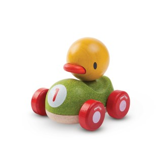 Plan Toys Duck Racer wooden push along car   LeVida Toys