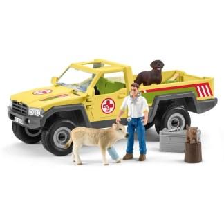 Schleich Veterinarian Visit At The Farm Playset (42503) | LeVida Toys