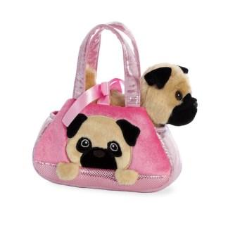 Fancy Pal: Peek-a-Boo Pug Soft Toy & Pet Carrier | LeVida Toys