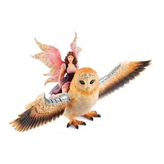 Fairy In Flight On Glam-Owl (Schleich 70713) Playset   LeVida Toys