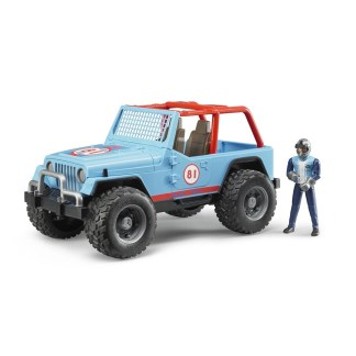 Bruder Jeep Cross Country Racer Blue with Driver   LeVida Toys