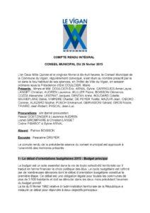 thumbnail of COMPTE RENDU DU CONSEIL MUNICIPAL 26 février 2015