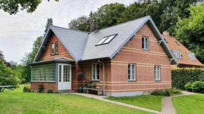Vackert tegelhus, vi lånade, i Danmark.