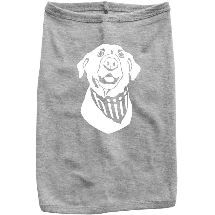 Dog tshirts in red and gray