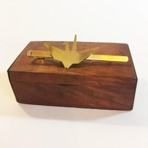 Pisacorbatas grulla origami - Le Voilà