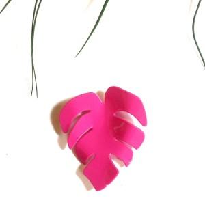 Pendiente costilla de Adán rosa - Le Voilà