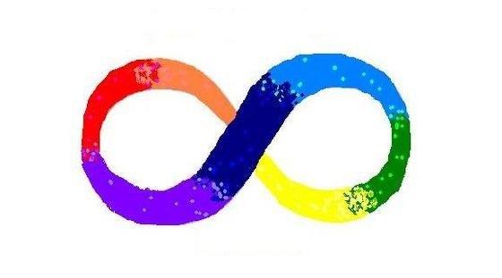 Радужный знак бесконечности - символ движения за нейроразнообразие