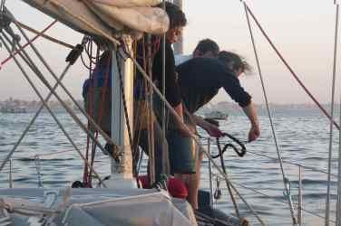 Remontée du mouillage avec nos matelots