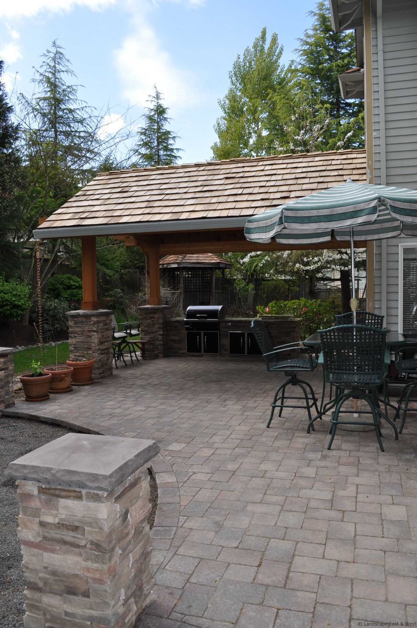 Outdoor Kitchen Designs for Portland, Oregon Landscaping on Outdoor Kitchen Patio  id=30855