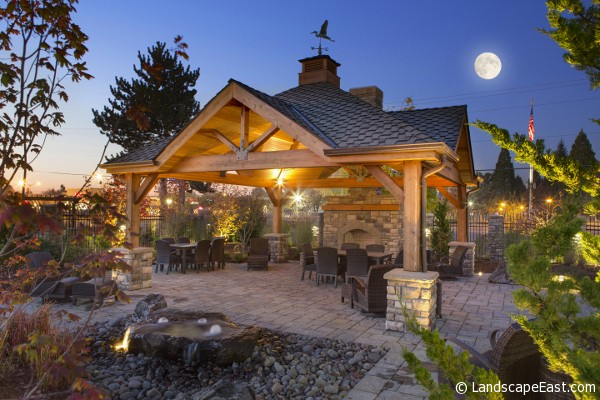 7 Outdoor Hearths Perfect for Portland Landscaping on Covered Outdoor Kitchen With Fireplace id=42054