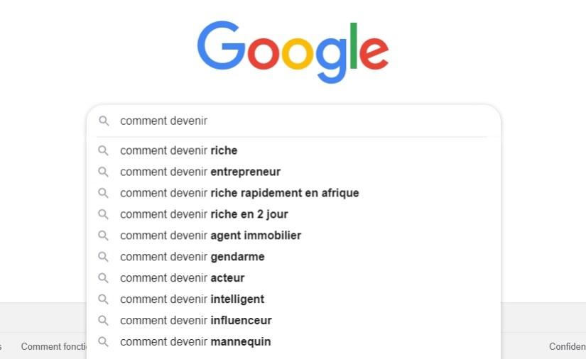 recherches google