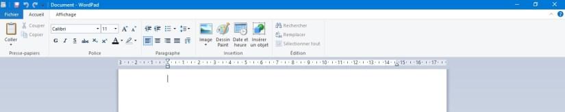 WordPad est une alternative à Word sous Windows