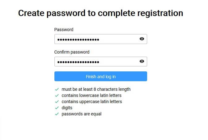 Choisissez un mot de passe