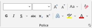 La mise en forme et accentuations typographiques