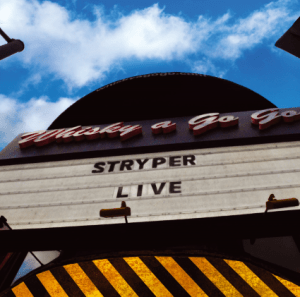 STRYPER -LIVE AT THE WHISKY - 19 SEPT - FRONTIERS MUSIC